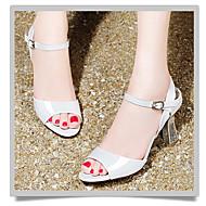 Girl's Heels Summer Platform PU Outdoor Low Heel Others White Orange Others