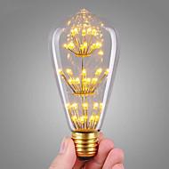 3W LED-hehkulamput ST64 47 COB 360 lm Lämmin valkoinen Koristeltu AC 220-240 V 1 kpl E27