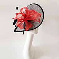 Kentucky Derby Church Races Black And Red Flax Wedding Event Fascinator