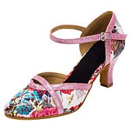 Customizable Women's  Latin / Modern Dance Shoes Satin / Sparkling Glitter Sandals / Heels Customized Heel Indoor