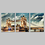 allungato su tela di London Bridge set di 3