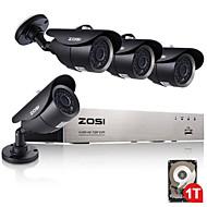 AHD dvr kituri de supraveghere zosi®4ch IR 720p rezistent la intemperii CCTV aparat de securitate acasă cu 1TB