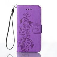 Para Samsung Galaxy S7 Edge Carteira / Porta-Cartão / Com Suporte / Com Relevo Capinha Corpo Inteiro Capinha Flor Rígida Couro PU Samsung