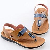 Szandálok-Lapos-Női cipő-Szandálok-Alkalmi-Szintetikus-Khaki