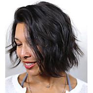 Žene Perike s ljudskom kosom Brazilska Ljudska kosa Full Lace Gustoća Bob frizura S mldom kosom Vodeni valovi Perika Boja gagata Crna