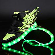 Sneakers-Syntetisk PU-Originale Light Up Sko-Unisex-Grøn Hvid Mørkerød-Udendørs Fritid-Flad hæl