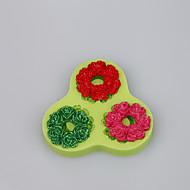 3 Cavity custom silicone molds beautiful wreath shape fondant cake mold decoration tools baking ware