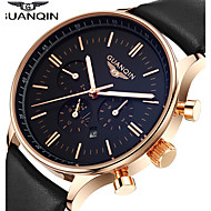 GUANQIN® High Quality Men's Watch Japanese Waterproof Sapphire Crystal Luminous Calendar Leather Band Business Wrist Watch Cool Watch With Watch Box