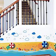 Virágos / Fák / levelek / Art Deco Wallpaper Otthoni Kortárs Falburkolat , PVC/Vinil Anyag ragasztószükséglet Falfestmény , szoba