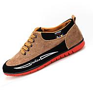 Muškarci Sneakers Proljeće Jesen Udobne cipele Til Ležeran Ravna potpetica Vezanje Crna Plava Žuta Trčanje