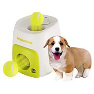 Zabawka dla psa Zabawki dla zwierząt Owalne Interaktywne Dozownik karmy Piłka tenisowa Plastik Green