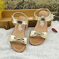 Szandálok-Lapos-Női cipő-Szandálok-Alkalmi-Mikroszálas-Ezüst / Arany