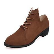 Women's Oxfords Spring / Fall Comfort PU Casual Flat Heel   Black / Brown / Gray Sneaker