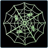 3pcs hochwertige Halloween Spinnennetz leuchtende Hausbar Dekoration Aufkleber
