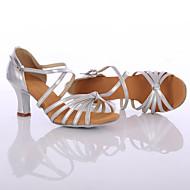 Sapatos de Dança(Preto / Prateado / Dourado) -Feminino-Personalizável-Latina / Tênis de Dança