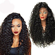 Top Quality High 180% Density Natural Black Wig Heat Resistant Synthetic Hair Wigs Curly Wigs Lace Front Wigs