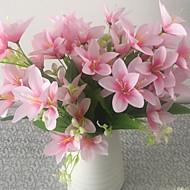1 1 Větev Polyester / Umělá hmota Lilie Květina na stůl Umělé květiny 13.7inch/35cm