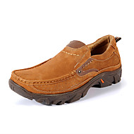 Men's Flats Fall / Winter Round Toe / Flats Leather Outdoor / Office & Career / Casual Flat Heel Others Brown