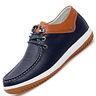 Herren-Outdoor-Lässig-Leder-Flacher Absatz-Komfort-Blau Weiß