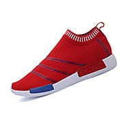 Unisex Sneakers Fall / Winter Round Toe Fabric Casual Flat Heel Slip-on Black / Blue / Red Others