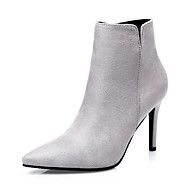 Women's Heels Fall Combat Boots / Pointed Toe / Closed Toe Suede Dress Stiletto Heel Zipper More Colors Available.