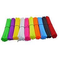 36PCS/Bag One Size Fit All Motorcycle Bicycle Scooter Pocket Dirt Pit Bike Spoke Spokes Cover Decoration