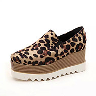 Women's Loafers & Slip-Ons Spring / Fall Comfort Leatherette Outdoor / Casual Platform Gore  Leopard Walking