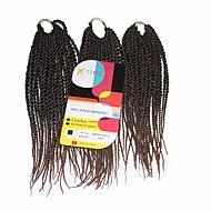 Senegal Twist Braids Haarverlängerungen 12Inch Kanekalon 81 Strands Strand 125g Gramm Haar Borten