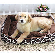 Dog Bed Pet Mats & Pads Leopard Soft Cotton / Fabric Brown