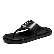 Men's Slippers & Flip-Flops Summer Suede Casual Flat Heel Others Black Others
