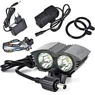 Luzes de Bicicleta / luzes do fulgor da bicicleta / luzes de segurança LED Cree XM-L T6 Ciclismo Super Leve 18650.0 / Bateria de Lítium