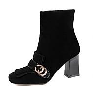 נשים-מגפיים-עור דמוי עור-בלרינה בייסיק מגפי רכיבה מגפי אופנה מגפי אופנועים נוחות חדשני מגפיי בוקרים\מערב פרוע מגפי שלג מגפונים-שחור ורוד-