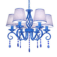 Mediterranean style crystal droplight wrought iron bedroom/study/crystal blue