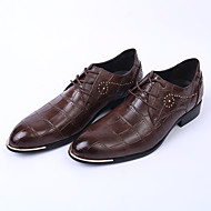 Men's Flats Spring Flats Leather Wedding / Party & Evening Flat Heel Gore Black / Brown / White Others