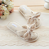 Summer Comfort Cotton Outdoor / Casual Flat Heel Bowknot Champagne Walking