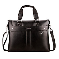 Men PU Office & Career Tote Black
