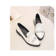 Women's Loafers & Slip-Ons Spring / Summer / Fall Ballerina Leatherette Casual Chunky Heel Others Black /Burgundy Others