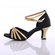 Obyčejné-Dámské-Taneční boty-Latina / Taneční tenisky-Satén / Koženka-Kubánský-Černá / Červená / Jiná