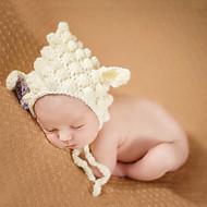 Newborn Prince Vintage Photography Prop Birthday Sheep Knitting Hat(0-6Month)