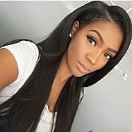 여성을위한 130 % 밀도 전체 레이스 인간의 머리 가발 브라질 처녀 머리 직선 전체 레이스 인간의 머리 가발