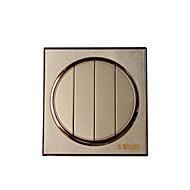 pyöreä kulta lanka piirustus neljän bitin kaksinkertainen kytkin