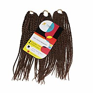 Senegal Twist Braids Hårforlengelse 12Inch Kanekalon 81 Strands Strand 125g gram Hair Braids