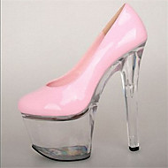 힐-드레스 캐쥬얼 파티/이브닝-여성-플랫폼 클럽 신발 신발에 불-에나멜 가죽-스틸레토 굽 플랫폼 크리스탈 굽-블랙 옐로 핑크 레드 골드 투명