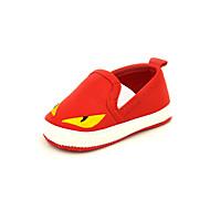 Bez podpatku-Plátno-Mary Jane-Unisex-Modrá / Červená-Běžné-Plochá podrážka