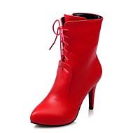 Feminino-Saltos-Saltos / Coturno / Botas de Cowboy / Botas de Neve / Botas Cano Curto / Bico Fino / Botas Montaria / Botas da Moda /