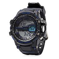 Men's Sport Watch  Military Watch Quartz Noctilucent  Luminous Rubber Band CasualBlack