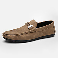Men's Loafers & Slip-Ons Spring / Summer / Fall / Winter Moccasin Leather Casual Flat Heel Others