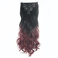 """7pcs / להגדיר סיומות גל שיער ה""""אומבר"""" קליפ שיער צבעוני קליפ תוספות שיער על נוכריות תוספות שיער סינטטיות"""
