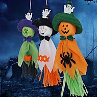 3ks duchové girlandy Bunting dekorace halloween látkové duchy struny fotografie rekvizity zeď na pozadí festival dekor