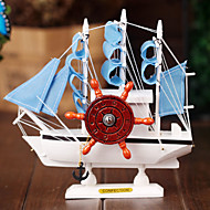 Sailing The Mediterranean Style Music Music Box Wooden Craft Ornaments Lovers Birthday Christmas Gift